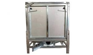 China Galvanised Mild Steel Stacking Ibc Containers / Tote Liquid Containers 1000L on sale