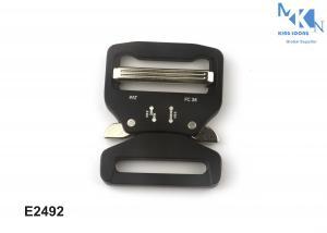 China 38.5mm Width Black Factory Custom Alloy Metal Cobra Belt Buckle on sale