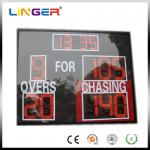 China Small Size Electronic Cricket Scoreboard In Red With Acrylic Board For Protection wholesale