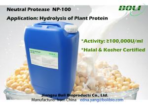 China Neutral Protease For Hydrolysis Of Plant Protein , Industrial Production Of Protease Enzyme on sale