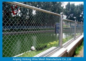 China Road / Courtyard Jet Black Chain Link Fence / Diamond Wire Mesh on sale