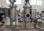 100 micrones automáticos de uno mismo de la limpieza del filtro del tamiz del filtro del cárter de carbono de material industrial del acero