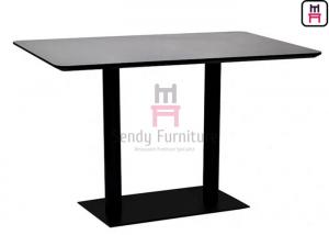 China Heat-resisting & Waterproof 55 inch Length MDF with Maple Wood Veneer Fast Food Dining Table on sale