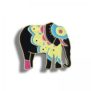 China Manufacturers customize elephant metal magnetic refrigerator stickers, creative metal paint refrigerator stickers on sale