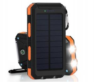 China ABS   Compass 20000mAh 5v 1A  Dual USB  solar charger power bank  for mobile phone on sale