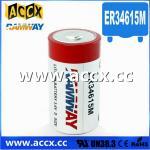 D size ER34615M 3.6V 14.5Ah lithium Thionyl chloride battery