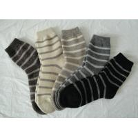Breathable Acrylic Stripe Angora Wool Socks With Hand Link For Sports