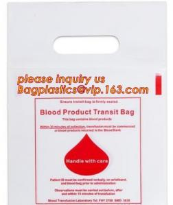 China BLOOD BAGS, BLOOD GIP BAGS, BLOOD HANDLE ZIP BAGS, Medical Biohazard Waste Plastic Bag, BAGPLASTICS, BAGEASE, PAC, PAK on sale