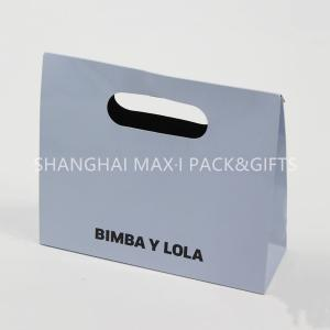 China Personalized White Branded Paper Gift Bags With Logo Cutting Handle Envelope Support on sale