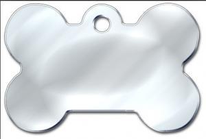 China Stainless dog tag, Bone shaped dog tag, plain Pet tag on sale