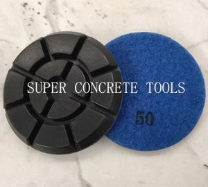 China 4 Inch 10mm Thickness Diamond Resin Concrete Floor Polishing Pads on sale