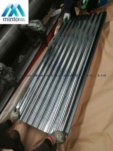 China Zinc Coated Corrugated Roofing Sheets Galvanized Corrugated Roof Panels Antirust on sale