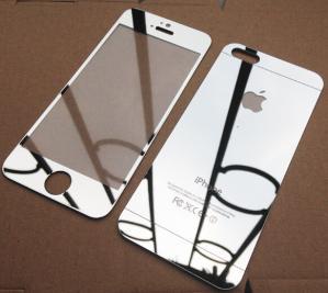 China El frente y la parte posterior para Iphone 5s moderaron el protector de la pantalla del espejo de cristal, precio de fábrica on sale