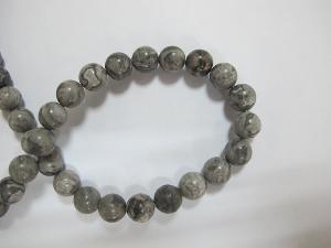 China Semi Precious Stones.Gemstone Beads.Beads Jewelry,Map Jasper-10mm Round Beads, 16 Inch on sale