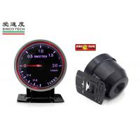 China Universal Turbo Boost Gauge Purple Display with Permanent Magnet Motor on sale