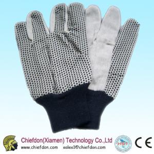 China points de PVC de gants de coton, PVC pointillant le poignet de knit de gant on sale