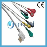 China Holter OEM One piece 7-lead ECG Cable with leadwires on sale