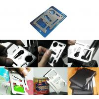 China 11-in-1 Multi-Function Emergency Card Tool with leather cover on sale