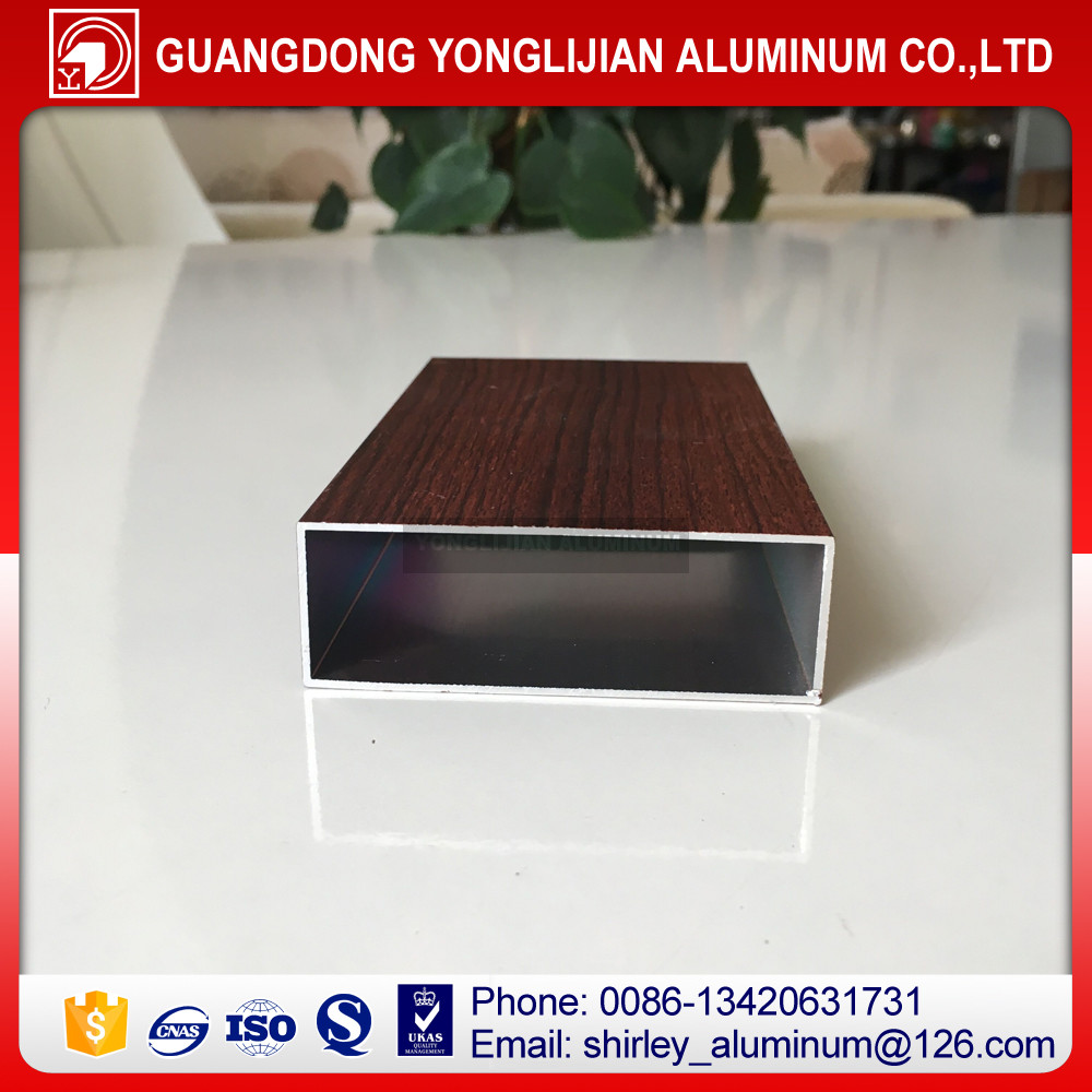 Wood grain aluminum square tubes,aluminum square hollow tube