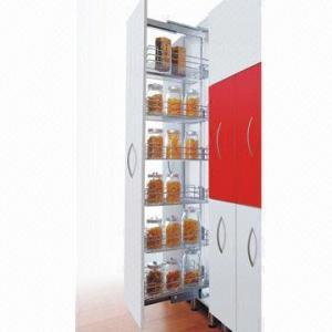 Kitchen Cabinet Organizer Pull Out Pantry Larder Storage Wire