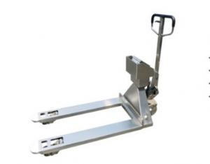China 304 Stainless Steel Pallet Truck Scales U Type Electric Pallet Jack With Weight Scale on sale