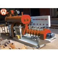 800KG/H 55KW Fish Feed Making Machine , Steel Low Noise Fish Pellet Extruder