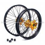 Custom 21 Inch Motorcycle Wheel Rims / Black Custom Motorbike Wheels