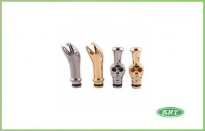 China 510 Snake Metal Electronic Cigarette Drip Tip , Golden e smoke on sale