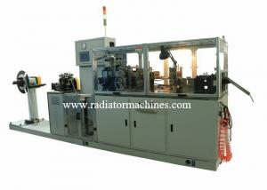 China Fully automatic Aluminum Radiator Fin Machine 48mm Wide OEM Production on sale