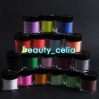 China Jumbo Size 18 Color Acrylic Powder Nail Art UV Powder Glitter 3D Liquid Deco Kit on sale