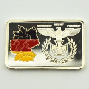 China 999.9 Replica Silver Bars/Coins Germany Territory/Eagle Painted Silver Bullion Bar 1 oz silver Plated For Collection on sale