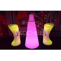 China Single color Waterproof Led outdoor furniture Light Up Table Chairs for Garden on sale