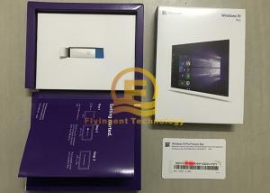 China Microsoft Win 10 Pro OEM 32 / 64 Bit Full Retail Version with USB Flash Drive on sale