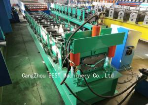 China Roof Ridge Cap Cold Roll Forming Machine 350H Steel With PLC Control on sale