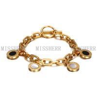 Gold latest designs popluar chain link bracelet jewelry NSB709STGC