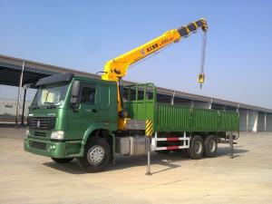 China 12 Tons XCMG Truck Mounted Telescopic Crane , Howo 10 Wheel High Up Truck Mounted Cranes on sale