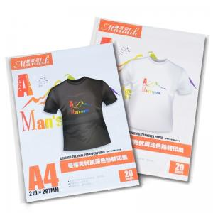 China Cotton T Shirt Washable Inkjet Heat Transfer Paper on sale