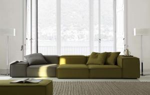 Quality Modern Hotel Lobby Sofas , Color Combination Fabric Sofa , blue fabric sofas for sale