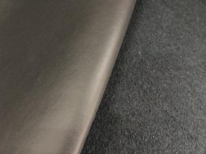 China Black Base Leather Raw Material Genuine Fiber Leather 1.4mm - 1.6mm Thickness on sale