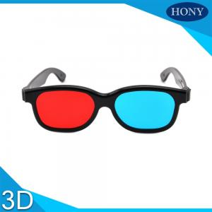China Plastic red and blue 3D glasses for movie and magazine on sale
