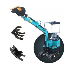 China Construction equipment 1ton mini track digging machine mini excavator for sale on sale