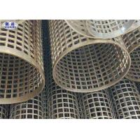 China Silver Welded Perforated Stainless Steel Tube Slotted Tube Filter Cylinders on sale