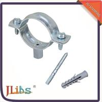 China Professional Durable Metal Pipe Clips Tube Saddle Clamp With Hanger Bolt on sale