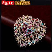 Gold Plated Colorful Austrian Crystal Brooch,Cute Heart Brooches Pin for Women/Girls