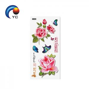 China OEM High Quality Ink Waterproof Colorful Butterflies Cute Temporary Tattoo Sticker 3d Tattoos on sale