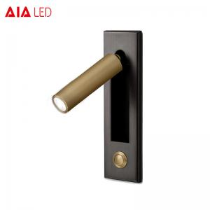 China Black 3W 30degree modern silver brushed LED wall light /led reading lights for villa project on sale