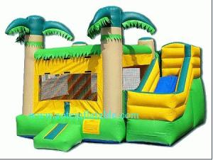China grey castle inflatable combo for bounce house with two slides on sale