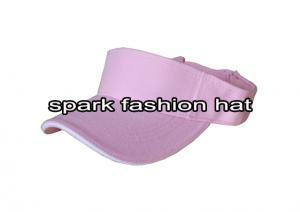 Quality Fashion plain pink sun visor cap with white sandwich for girls for sale
