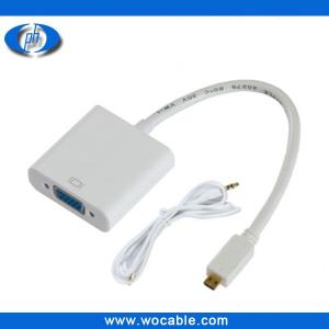 China Micro HDMI to VGA Cable with Audio Output on sale