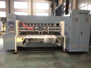China Industrial Corrugated Cardboard Production Line Flexo Printing And Die Cutting Machine on sale